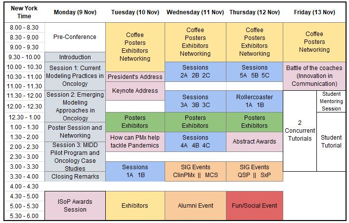 ACoP11 Program Schedule Layout